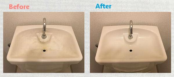 タンク蓋水垢除去