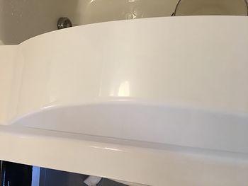 浴槽前面パネル研磨