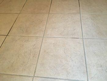 床石材掃除後