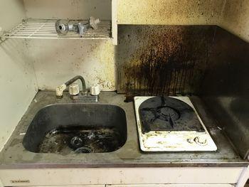 ミニキッチン汚れ